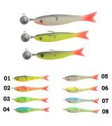 Рыбка поролоновая оснащённая 07см 15г 04