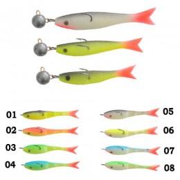 Рыбка поролоновая оснащённая 07см 18г 04