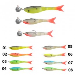 Рыбка поролоновая оснащённая перфорированная 06см 15г 01