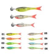 Рыбка поролоновая оснащённая перфорированная 06см 15г 03