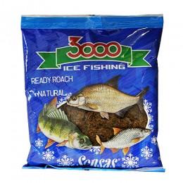 Прикормка зимняя готовая Sensas 3000 ROACH NATURAL 0,5кг