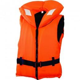 Жилет спасательный с воротником на молнии Norfin 100N 30-40кг/оранж.