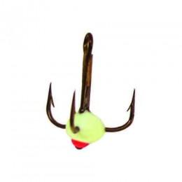 Крючок-тройник для приманок Lucky John с каплей цвет. разм.010/F
