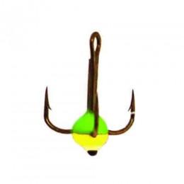Крючок-тройник для приманок Lucky John с каплей цвет. разм.010/GRY