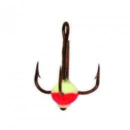 Крючок-тройник для приманок Lucky John с каплей цвет. разм.012/FR