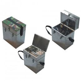 Ящик рыболовный нержавеющая сталь 2-х ярус. 400х190х360