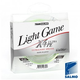 Леска плетеная Team Salmo LIGHT GAME Fine Green X4 100/0042