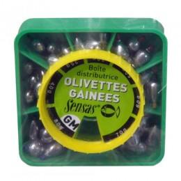 Грузила Sensas OLIVETTE GM оливка большые набор