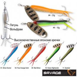 Блесна вращающаяся Savage Gear FLYING EEL SPINNER 3 16,0г/10