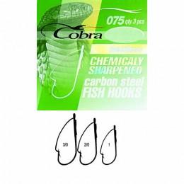 Крючки Cobra WEEDLESS сер.075 разм.002/0 3шт.