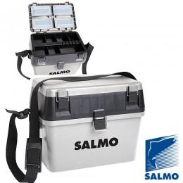 Ящик рыболовный зимний Salmo пласт. 38x24,5x29см сер.