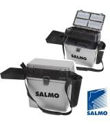 Ящик рыболовный зимний Salmo пласт. 39,5x24,5x38см сер.